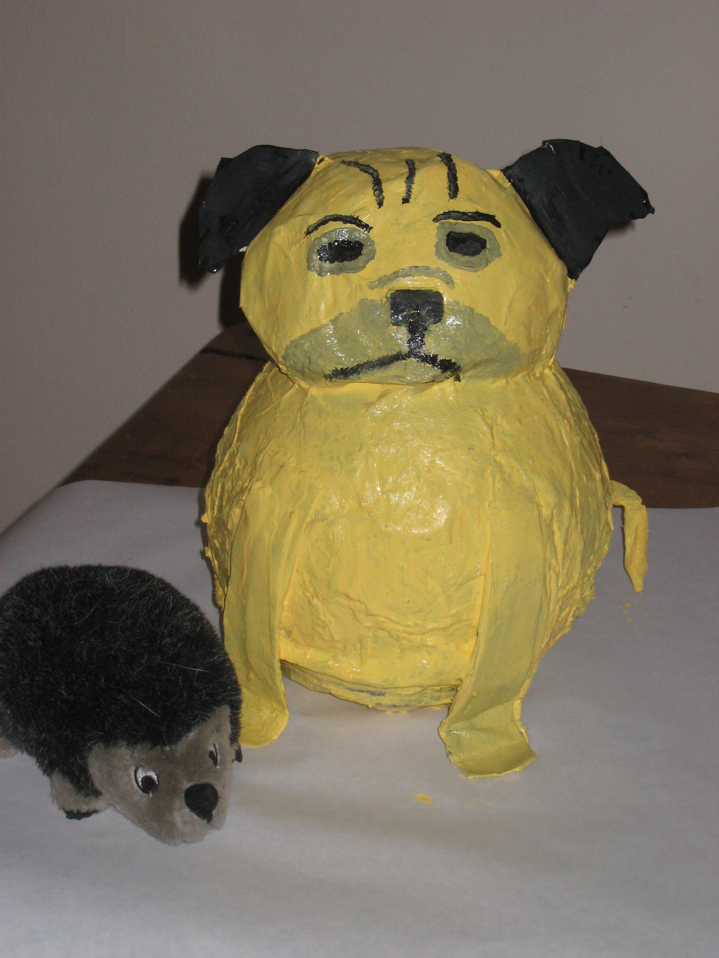 Papier Mache tout day 70: papier-mache pug   pug life